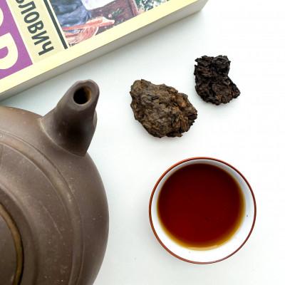 """Чай пуэр Лао Ча Тоу """"Дикий в камнях пуэр"""" (10 лет)"""